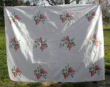 "Vintage Wilendur ""Lilac Time"" Pink Lilac Tablecloth - The Pink Rose Cottage"