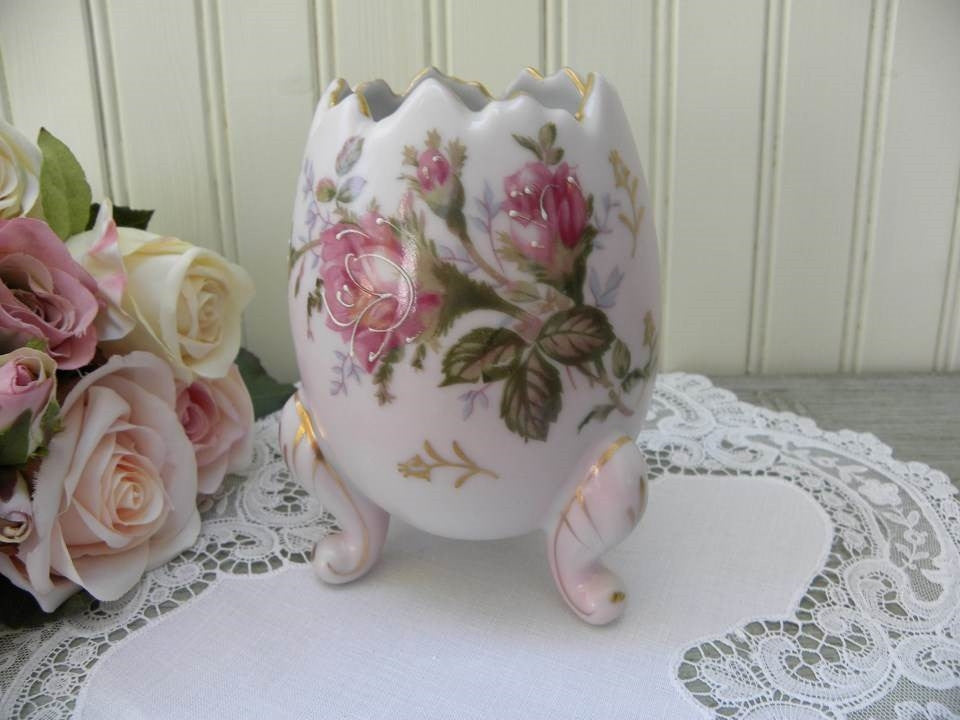 Vintage Napcoware Pink Rose Egg Shaped Vase - The Pink Rose Cottage