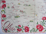 Unused Vintage Franshaw Ohio State Souvenir Handkerchief - The Pink Rose Cottage