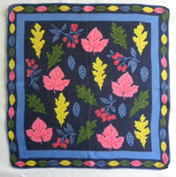 Vintage Leaves Berries and Pinecone Autumn Handkerchief - The Pink Rose Cottage
