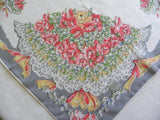 Vintage Sweet Peas Bridal Bouquet Handkerchief - The Pink Rose Cottage