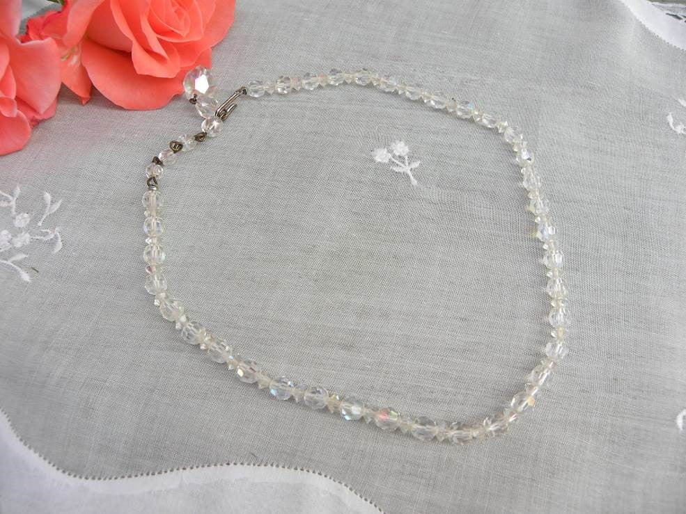 Vintage Glass Crystal Beaded Necklace with Tons of Sparkle - The Pink Rose Cottage