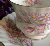 "Vintage Royal Albert ""Prairie Crocus"" Teacup and Saucer - The Pink Rose Cottage"