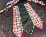 Vintage Black and Plaid Christmas Apron - The Pink Rose Cottage