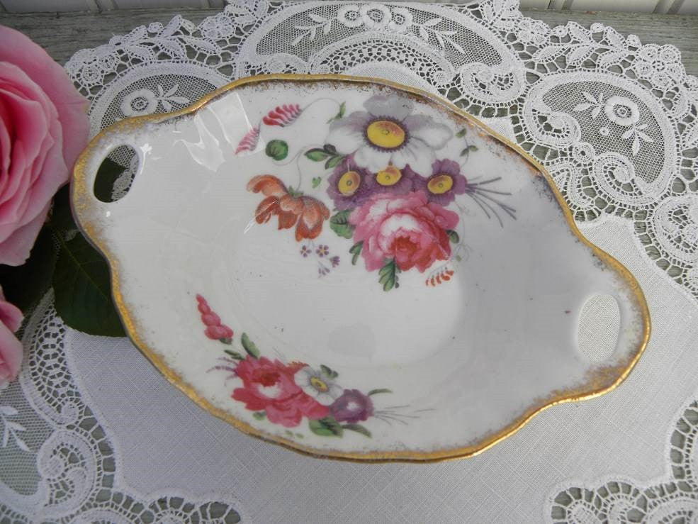 "Vintage Royal Albert ""Lady Angela"" Handled Candy Dish - The Pink Rose Cottage"