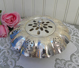 Vintage Silver Plated Ornate Centerpiece Bowl Flower Frog - The Pink Rose Cottage