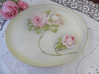 Vintage Hand Painted and Signed Pink Roses Vanity Tray - The Pink Rose Cottage