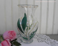 Vintage Hand Painted and Signed Vase with Lily of the Valley - The Pink Rose Cottage