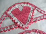 Vintage Pillowcases with Crocheted Pink Heart Insets - The Pink Rose Cottage