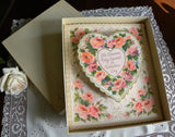 MIB Large Vintage American Greetings Music Box Valentines Card with Pink Roses - The Pink Rose Cottage