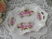Vintage Magnolia Tidbit Vanity Tray Pin Dish - The Pink Rose Cottage