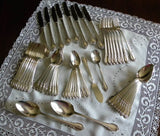 "52 Piece Vintage Rogers ""Remembrance"" Silver Plate Flatware Set - The Pink Rose Cottage"