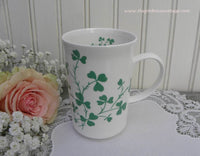 Vintage St. Patricks Day Shamrocks Tea Coffee Mug - The Pink Rose Cottage