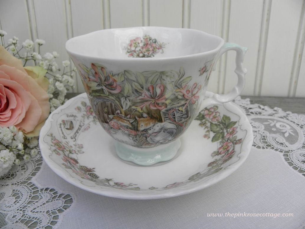 "Royal Doulton Brambly Hedge ""Summer"" Teacup and Saucer - The Pink Rose Cottage"