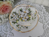 "Vintage Royal Albert ""White Dogwood"" Teacup and Saucer - The Pink Rose Cottage"