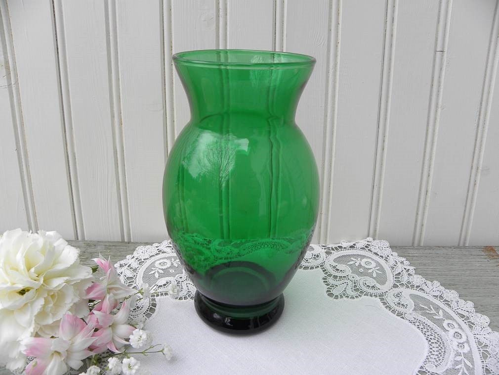 Vintage Anchor Hocking Depression Glass Forest Green 6