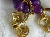 Vintage Dangle Purple Bunch of Grapes Pin Brooch - The Pink Rose Cottage