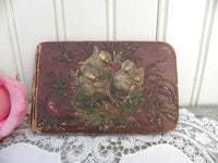 Antique 1884 Young Adult Autograph Book - The Pink Rose Cottage