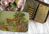 Pair of WWII Soldiers New Testament Bibles one with Protective Shield in Tin Candy Box - The Pink Rose Cottage