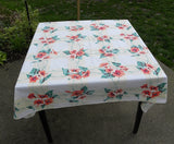 "Vintage Wilendur ""Morning Glory"" Tablecloth - The Pink Rose Cottage"