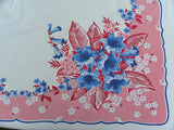 Vintage Lilies Bluebells and More Tablecloth and Napkins - The Pink Rose Cottage