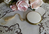 Vintage Pocket Watch Style Ladies Powder Compact - The Pink Rose Cottage