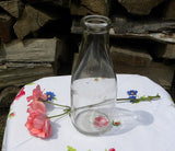 Vintage Quart  Embossed Milk Bottle Vase - The Pink Rose Cottage