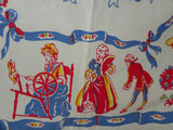 Unused Vintage Southern Belle Gardening Tablecloth - The Pink Rose Cottage