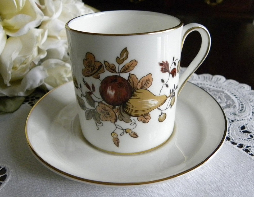 Vintage Royal Chelsea Golden Fruits and Roses Demitasse Cup - The Pink Rose Cottage