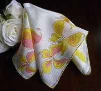 Vintage Faith Austin Butterfly Handerchiefs - The Pink Rose Cottage