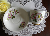 Vintage Elizabethan Pink Moyesii Rose Teacup and Saucer - The Pink Rose Cottage