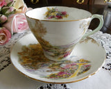 "Vintage Shelley ""Heather"" Teacup and Saucer - The Pink Rose Cottage"