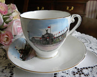 Royal Grafton Teacup and Saucer Souvenir of Canadian National Expo - The Pink Rose Cottage