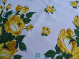 "Vintage MWT ML ""Encore"" Yellow Rose Tablecloth - The Pink Rose Cottage"