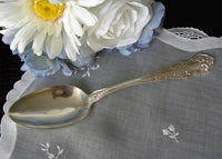 Antique Wm Rogers Chester Silver Plated Serving Spoon - The Pink Rose Cottage