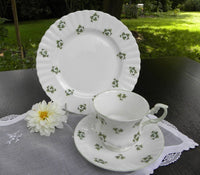 Vintage Royal Dover Shamrock Teacup & Luncheon Plate - The Pink Rose Cottage