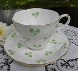 Royal Albert Wayside Series Shamrock Teacup and Saucer - The Pink Rose Cottage