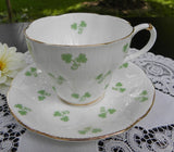 "Royal Albert ""Wayside Series"" Shamrock Teacup and Saucer - The Pink Rose Cottage"