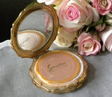 Vintage Stratton Powder Compact and Matching Lipstick Mirror Holder - The Pink Rose Cottage