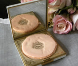 Vintage Evans Powder Compact with Large Stone - The Pink Rose Cottage
