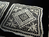 Set of Vintage Handmade Small Lace Doilies - The Pink Rose Cottage