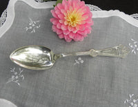 Antique Simpson Jewell Monogrammed Serving Spoon - The Pink Rose Cottage