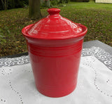 New Fiestaware Medium 2 Quart Canister in Scarlet Red - The Pink Rose Cottage