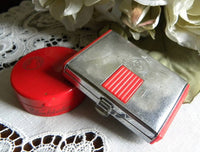 Vintage Red Coty Powder Compact & Helena Rubinstein Rouge Pot - The Pink Rose Cottage