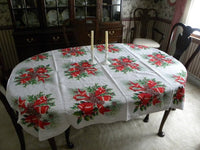 Vintage Christmas Pine Cone Boughs Tablecloth - The Pink Rose Cottage