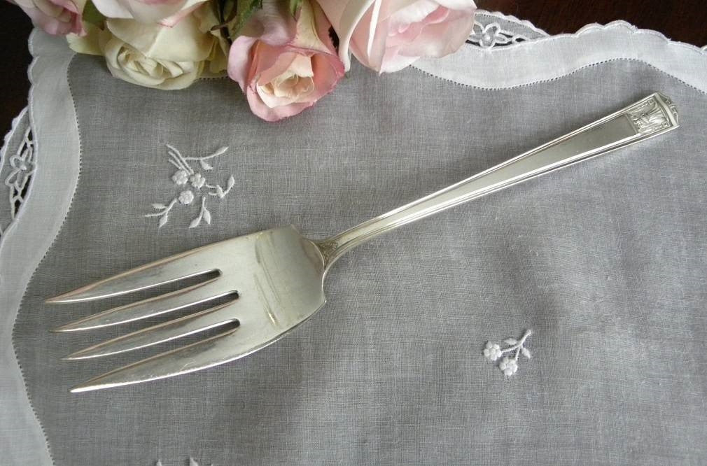 "Vintage Holmes & Edwards ""Century"" Serving Fork - The Pink Rose Cottage"