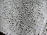 Vintage Handwork Whitework Wedding Bridal Wedding Handkerchief - The Pink Rose Cottage