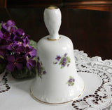 Vintage Lefton Purple Violet Bell - The Pink Rose Cottage