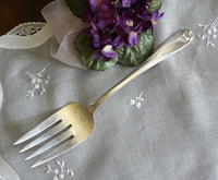 Vintage 1847 Rogers Meat Serving Fork Daffodil - The Pink Rose Cottage