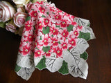 Vintage Pink Violets Bouquet Handkerchief - The Pink Rose Cottage